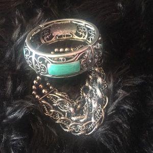 Jewelry - Chunky gunmetal bracelet lot